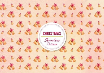 Free Vector Christmas Bell Pattern - Free vector #396389
