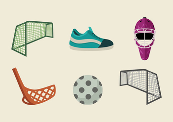 Floorball Vector Pack - Kostenloses vector #396419