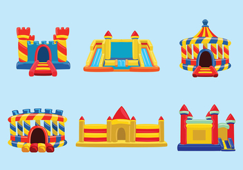 Bounce House Vector - Free vector #396439