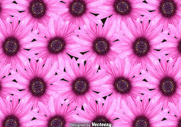 Vector Pink Flowers Background - бесплатный vector #396459