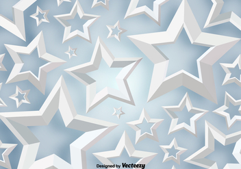 Vector 3D White Stars Background - vector gratuit #396469