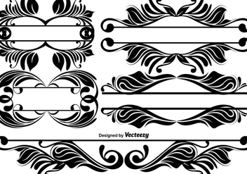 Vintage Ornamental Dividers - vector gratuit #396489
