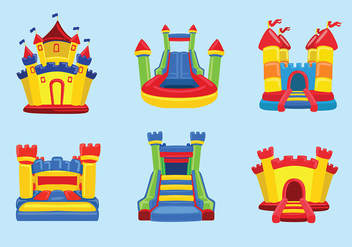 Bounce House Vector - vector #396499 gratis