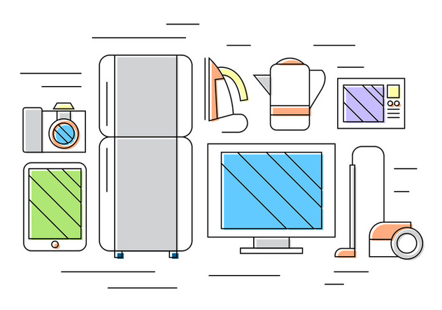 Home Appliance Vector Icons - Free vector #396579