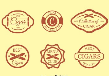 Cigar Label Vector Set - vector gratuit #396599