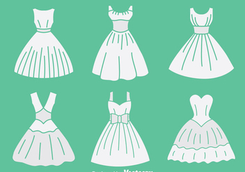 White Brides Maid Collection Vector - vector gratuit #396609