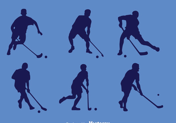 Floorball Player Silhouette Vector - бесплатный vector #396699