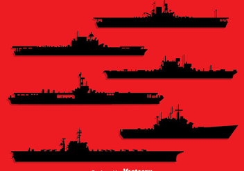Aircraft Carrier Silhouette Vector - Kostenloses vector #396709