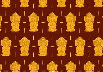 Ganesha Pattern Background - vector #396749 gratis