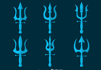 Poseidon Symbol Collection Vector - vector #396759 gratis