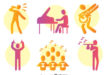 Colorful Musician Vector - vector gratuit #396779