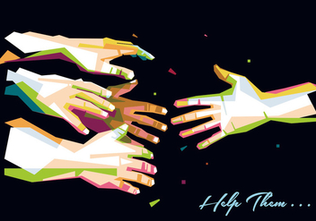 Illustration Hand for Help - vector gratuit #396789