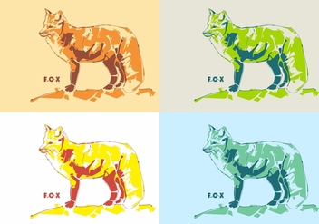 The Colorful Fox in Vector Popart - Free vector #396819
