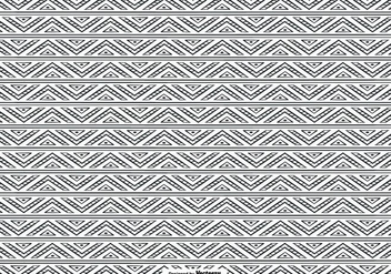 Hand Drawn Ethnic Style Pattern Background - vector gratuit #396879