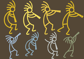 Kokopelli Figures - бесплатный vector #396899