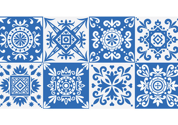 Azulejo Patterns - vector #396969 gratis
