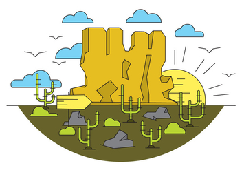 Grand Canyon Vector Illustration - бесплатный vector #397009