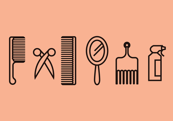 Barber Tools Vector Set - Free vector #397029