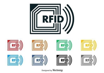 RFID Chip Vector Logo - бесплатный vector #397039