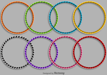 Hula Hoop Icon Set - vector #397059 gratis