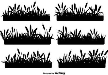 Reeds Black Icons Vector Set - Free vector #397069