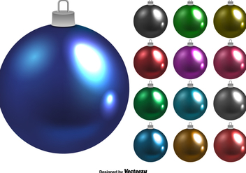 Shiny Vector Christmas Balls Set - Free vector #397089