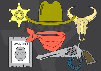 Wild West Vector Icons - vector #397129 gratis