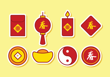 Free Chinese Icon Set - vector gratuit #397149