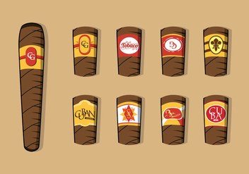 Free Cigar Label Vector - бесплатный vector #397179