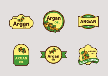 Argan label vector pack - vector gratuit #397189