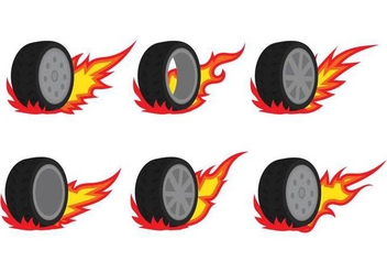 Burnout Tire Vectors - vector gratuit #397269