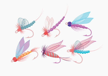 Fly Fishing Vector - бесплатный vector #397309