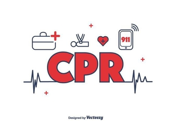 CPR Icons Vector - Free vector #397319