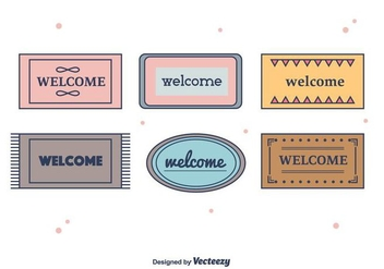 Welcome Mat Vector - vector gratuit #397369