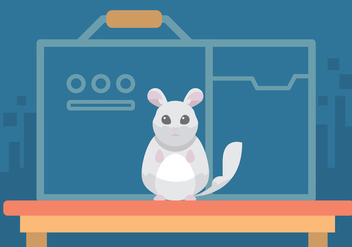 Chinchilla Vector Art - Kostenloses vector #397379