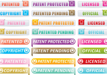 Patent And Copyright Buttons - vector gratuit #397419