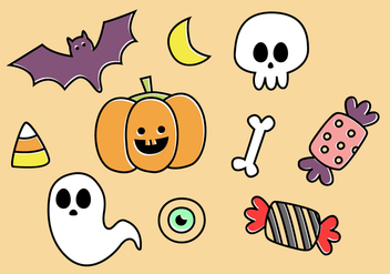Free Halloween Elements Vector - бесплатный vector #397449