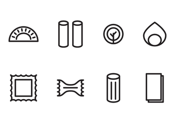 Icons for Pasta Lovers - бесплатный vector #397619