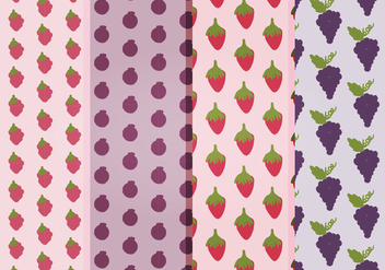 Vector Fruits Patterns - Free vector #397669