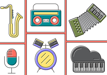 Free Vector Musical Instruments - бесплатный vector #397679