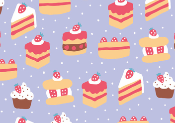 Strawberry Cakes Pattern - vector gratuit #397699
