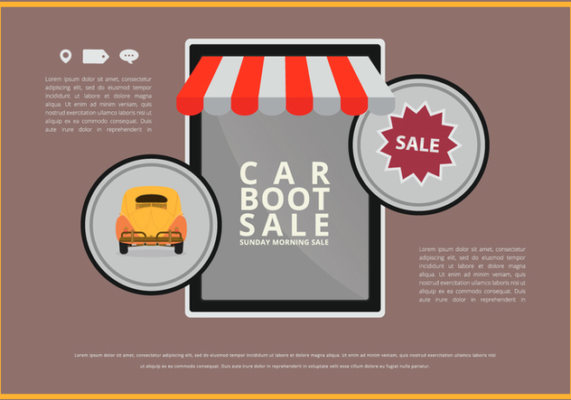 Car Boot Event Mobile Application - Free vector #397869