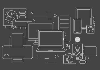 Technology Vector Elements - Free vector #397889