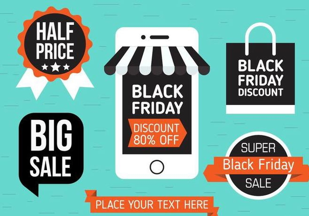 Free Black Friday Vector Shopping - Kostenloses vector #397949