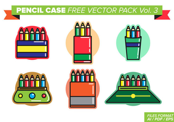 Pencil Case Free Vector Pack Vol. 3 - vector gratuit #398019