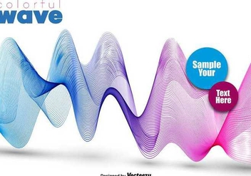 Abstract Colorful Pink And Blue Wave - Vector - бесплатный vector #398069