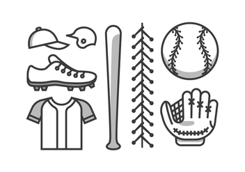 Baseball Vector Kit - Kostenloses vector #398169