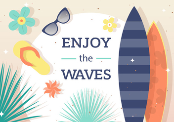 Enjoy the Surf Vector Background - Free vector #398249