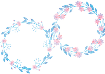 Vector Floral Wreaths - vector gratuit #398289