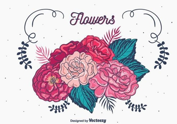 Floral Bouquet Vector - бесплатный vector #398309